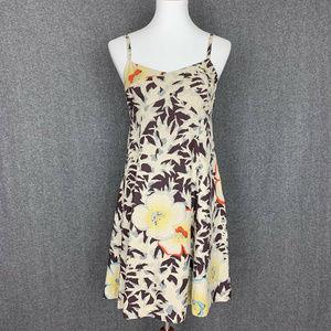 Anthropologie HD In Paris Fern & Flower Silk Dress
